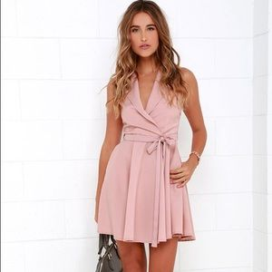 Lulus pink wrap dress